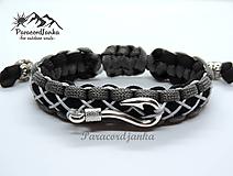 Šperky - Paracord náramok - Rybár - 10425152_