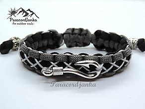 Šperky - Paracord náramok+prívesok - Rybár - 10425152_