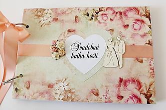 Papiernictvo - svadobná kniha hostí - 10423121_