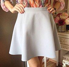 Sukne - Polkruhová sukňa z kostýmovky BLEDUČKO SIVÁ - 10425296_
