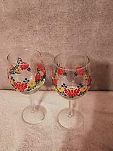 Nádoby - Folk poháre Kvetinový ornament - 10423530_