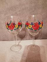 Nádoby - Folk poháre Kvetinový ornament - 10423531_
