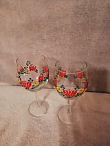Nádoby - Folk poháre Kvetinový ornament - 10423533_