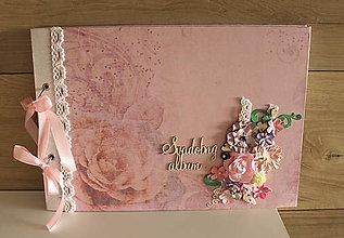 Papiernictvo - ruža _ svadobný album - 10423410_