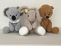 Hračky - Háčkovaný macko Micha/ Crochet bear Micha - 10422721_