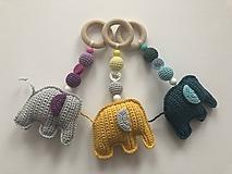 Hračky - Hrýzatko so sloníkom / Elephant teether - 10422737_