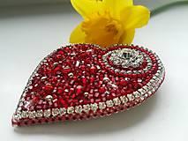 Odznaky/Brošne - Valentýnské srdce II. - 10422713_