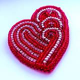 Odznaky/Brošne - Valentýnské srdce - 10422744_