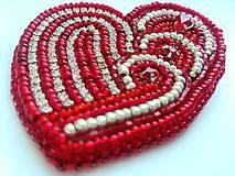 Odznaky/Brošne - Valentýnské srdce - 10422746_