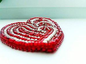Odznaky/Brošne - Valentýnské srdce - 10422740_
