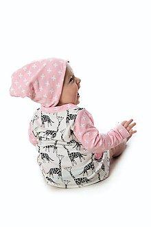 Detské oblečenie - Maia šaty pink reversed - 10423763_