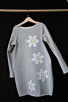 Detské oblečenie - Teplákové balónové šaty/tunika Margaréta - 10424330_