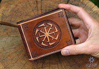 Peňaženky - Kožená peňaženka VI. Kolovratoč - 10425855_