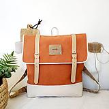 Batohy - Aktovkový batoh Olivia (oranžovo-béžový) - 10423019_