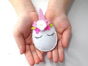 Dekorácie - Vajíčko alebo ... (jednorožec) - 10422311_