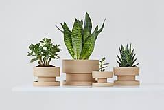 Nádoby - set keramických kvetináčov - 10425879_