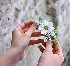 Ozdoby do vlasov - Kvetinová spona - 10422113_