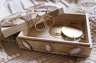 """Krabičky - Thalia"""" recyklovaná ručne zdobená krabička/šperkovnička:) - 10425059_"""
