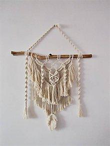 Dekorácie - Makramé závesná dekorácia BOHOCREAM - 10422706_