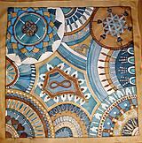 Šatky - maľovaná šatka hodvábna - 10422436_