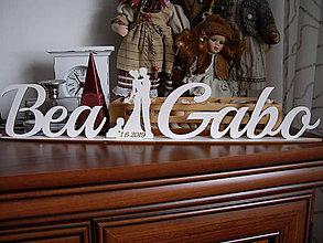 Darčeky pre svadobčanov - Dekorácia na svadobný stôl + stojan - 10423842_