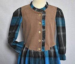 Detské oblečenie - Detské šaty s dvojsukňou - 10425676_