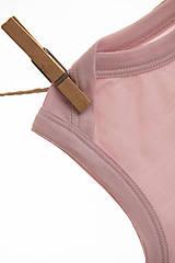 Detské oblečenie - Rastúce merino body - tielko (od narodenia - cappuccino) - 10425042_
