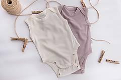 Detské oblečenie - Rastúce merino body - tielko (od narodenia - cappuccino) - 10425045_