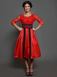 Šaty - Spoločenské šaty vo folk modernom štýle rôzne farby - 10425005_