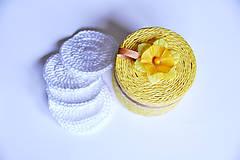 Úžitkový textil - Kozmetické odličovacie tampóny v dóze - 10422472_