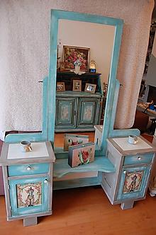 Nábytok - Toaletný stolík vo farbe provance - 10424486_