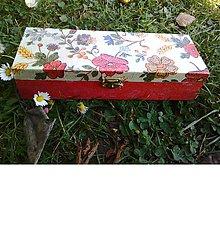 Krabičky - Drevená šperkovnica - kvetinová - 10423989_