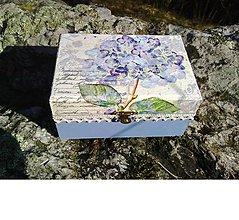 Krabičky - Šperkovnica - nežná modrá - 10426064_