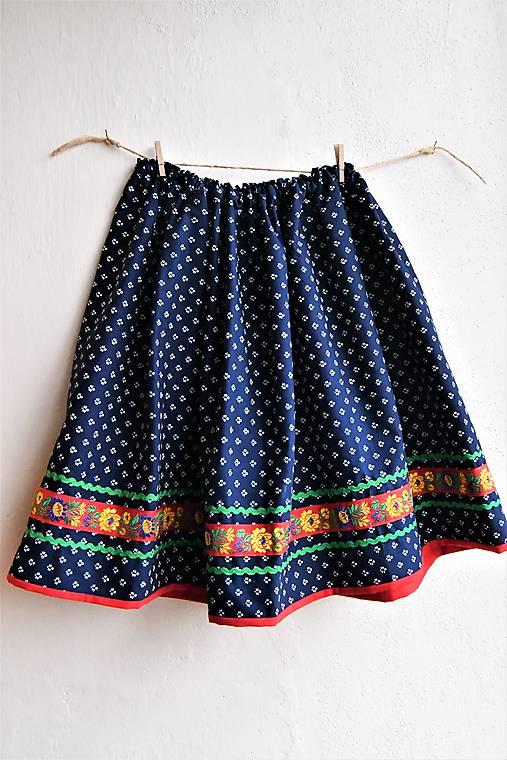 bdbd26f042ec Modrotlačová sukňa v.146   BaciBac - SAShE.sk - Handmade Detské ...