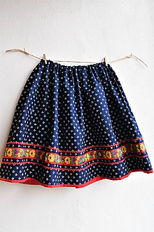 Detské oblečenie - Modrotlačová sukňa v.128 - 10424343_