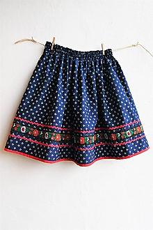 Detské oblečenie - Modrotlačová sukňa v. 122 - 10424413_