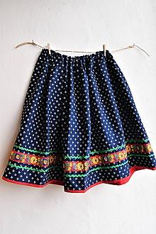 Detské oblečenie - Modrotlačová sukňa v.146 - 10424429_