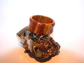Prstene - Drevený prsteň 3 - 10423949_