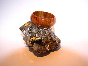 Prstene - Drevený prsteň 8 - 10423986_