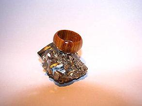 Prstene - Drevený prsteň 15 - 10424029_