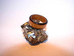 Prstene - Drevený prsteň 19 - 10424045_