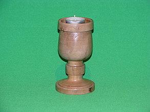 Svietidlá a sviečky - Drevený svietnik - 10425000_