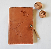 Papiernictvo - Travel Diary kožený cestovateľský zápisník - 10423629_
