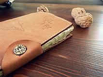 Papiernictvo - Travel Diary kožený cestovateľský zápisník - 10423640_
