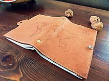 Papiernictvo - Travel Diary kožený cestovateľský zápisník - 10423641_