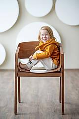 Detské oblečenie - TEPLÁKY BASIC (98 - Horčicová) - 10422718_