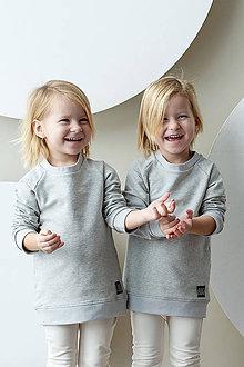 Detské oblečenie - MIKINA BASIC (74 - Šedý melír) - 10425275_