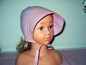 Detské čiapky - čepček ružový cik cak - 10423827_