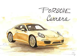 Iné - Porsche Carrera, motivačný obraz :) - 10423845_