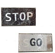 Galantéria - Veľká aplikácia / nažehlovačka STOP&GO obojstranné flitre - 10425549_